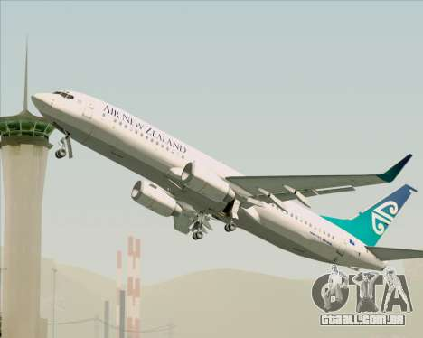 Boeing 737-800 Air New Zealand para o motor de GTA San Andreas