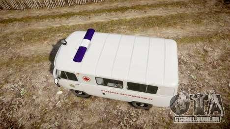 UAZ-39629 ambulância Hungria para GTA 4 vista direita