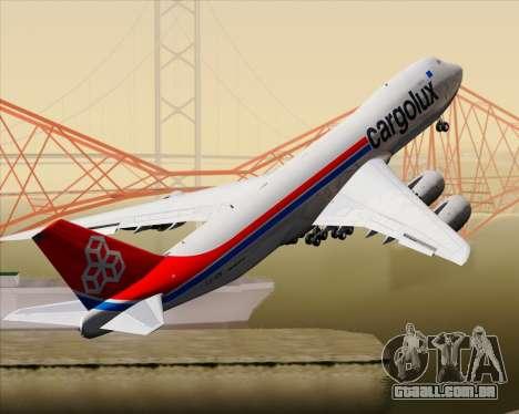 Boeing 747-8 Cargo Cargolux para GTA San Andreas