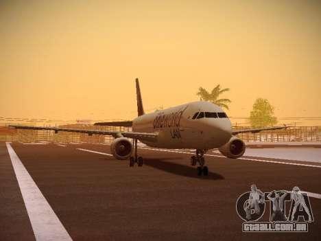Airbus A320-214 LAN Oneworld para GTA San Andreas esquerda vista