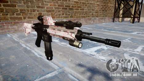 Automatic rifle Colt M4A1 cereja blososm para GTA 4
