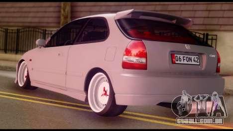 Honda Civic 1.4 Hatchback para GTA San Andreas esquerda vista