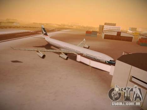Airbus A340-300 Cathay Pacific para vista lateral GTA San Andreas