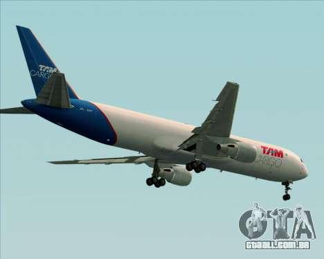Boeing 767-300ER F TAM Cargo para as rodas de GTA San Andreas