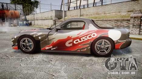 Mazda RX-7 Cusco para GTA 4 esquerda vista
