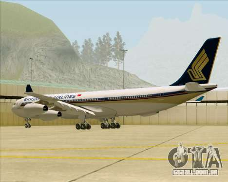 Airbus A340-313 Singapore Airlines para GTA San Andreas vista direita