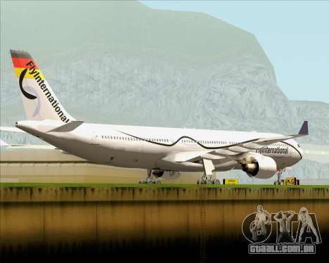 Airbus A330-300 Fly International para GTA San Andreas vista direita