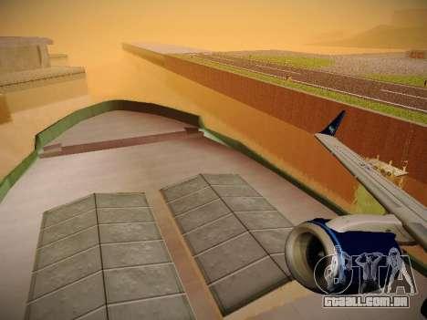 Embraer E190 Azul Tudo Azul para GTA San Andreas vista inferior