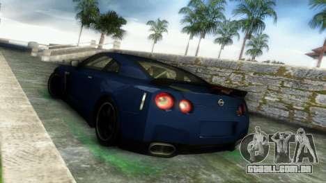 Nissan GT-R SpecV Black Revel para GTA Vice City vista direita
