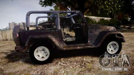 Jeep Wrangler Unlimited Rubicon para GTA 4 esquerda vista