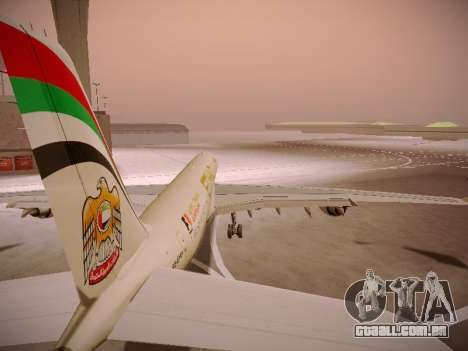 Airbus A340-600 Etihad Airways para as rodas de GTA San Andreas