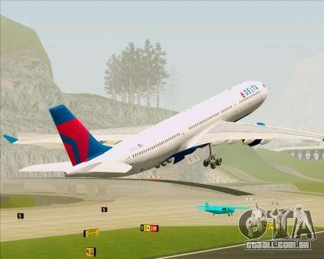 Airbus A330-300 Delta Airlines para GTA San Andreas interior