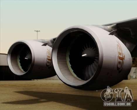 Airbus A380-841 Emirates para GTA San Andreas vista superior