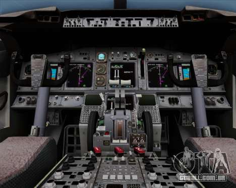 Boeing 737-86N Garuda Indonesia para GTA San Andreas vista superior