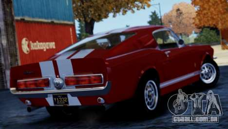 Shelby Cobra GT500 1967 para GTA 4 vista direita