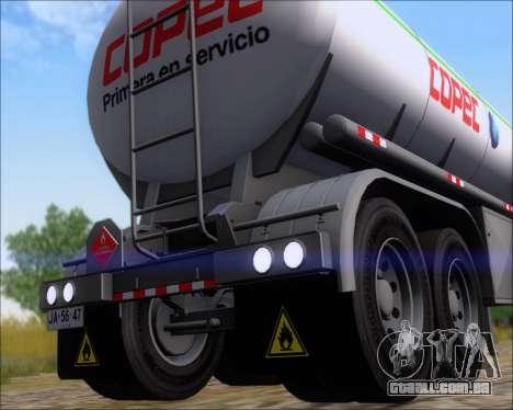 Tanque de reboque Carro Copec para GTA San Andreas vista traseira