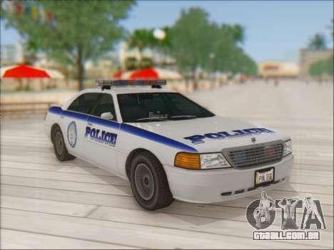 Admiral Police para GTA San Andreas vista interior