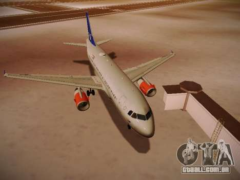 Airbus A319-132 Scandinavian Airlines para GTA San Andreas esquerda vista