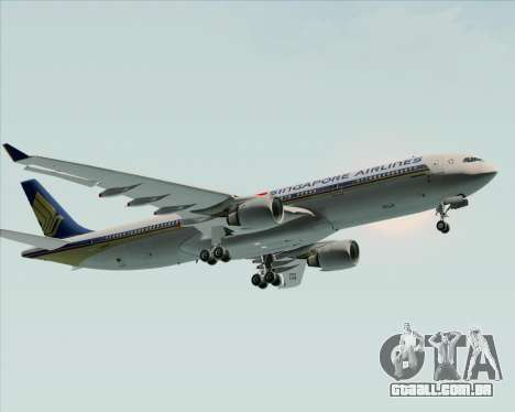 Airbus A330-300 Singapore Airlines para GTA San Andreas vista interior