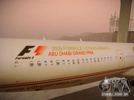 Airbus A340-600 Etihad Airways para o motor de GTA San Andreas