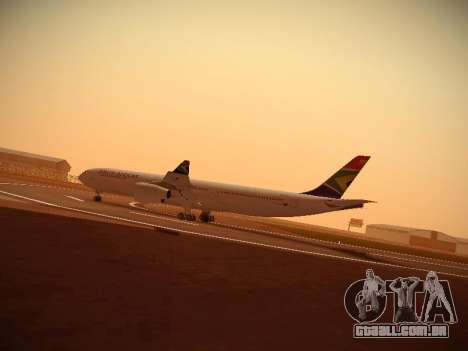 Airbus A340-300 South African Airways para GTA San Andreas esquerda vista