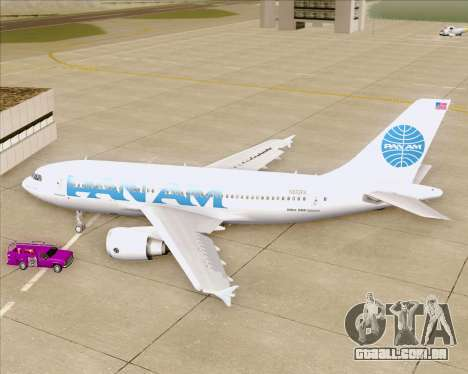 Airbus A310-324 Pan American World Airways para GTA San Andreas vista interior