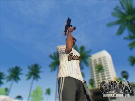 Uzi para GTA San Andreas por diante tela