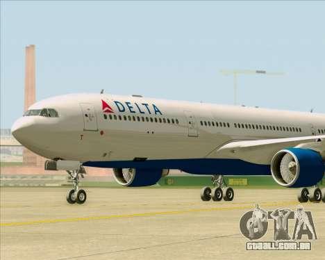Airbus A330-300 Delta Airlines para GTA San Andreas vista interior