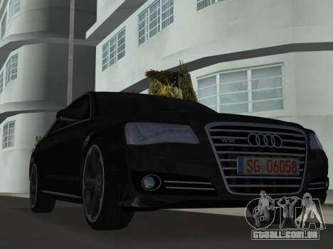 Audi A8 2010 W12 Rim6 para GTA Vice City deixou vista