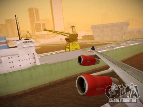 Airbus A340-300 Scandinavian Airlines para GTA San Andreas vista inferior