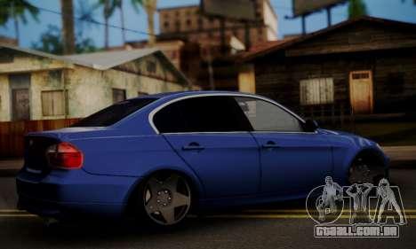 BMW M3 E90 Stance Works para GTA San Andreas esquerda vista