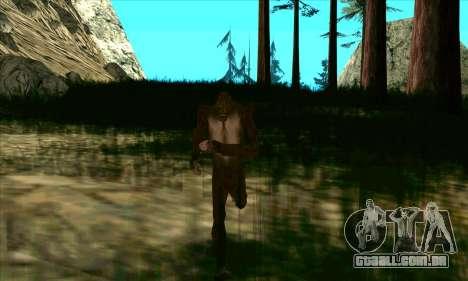 Pé grande (Bigfoot) no monte Chiliad para GTA San Andreas terceira tela