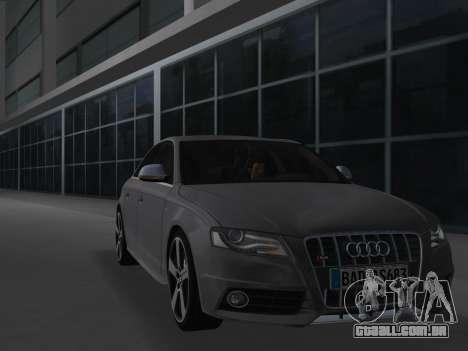 Audi S4 (B8) 2010 - Metallischen para GTA Vice City deixou vista