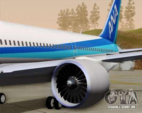Boeing 787-9 All Nippon Airways para as rodas de GTA San Andreas