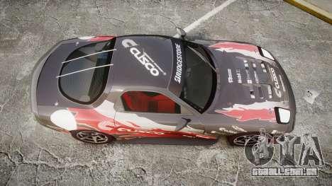Mazda RX-7 Cusco para GTA 4 vista direita