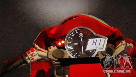 Yamaha New V-Ixion Lightning Concept Variasi para GTA San Andreas traseira esquerda vista
