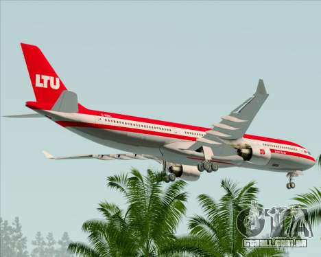 Airbus A330-300 LTU International para as rodas de GTA San Andreas