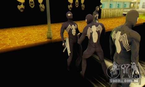 Skin The Amazing Spider Man 2 - Suit Symbiot para GTA San Andreas terceira tela