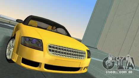 Audi TT Coupe BiMotor Black Revel para GTA Vice City vista traseira esquerda