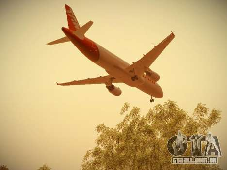 Airbus A320-214 TAM Airlines para GTA San Andreas vista inferior