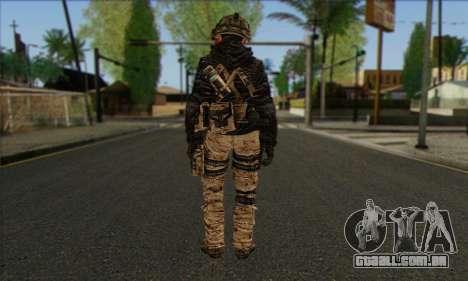 Task Force 141 (CoD: MW 2) Skin 14 para GTA San Andreas segunda tela