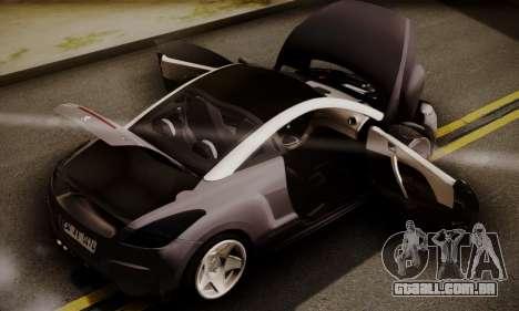 Peugeot RCZ para GTA San Andreas vista traseira