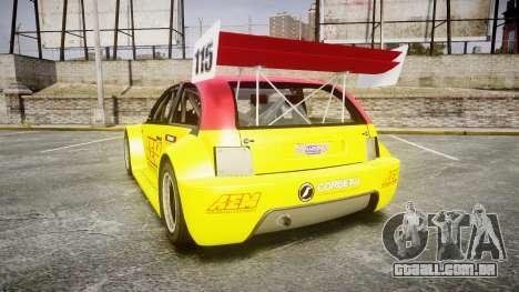 Zenden Cup AEM para GTA 4 traseira esquerda vista