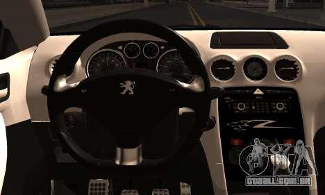 Peugeot RCZ para GTA San Andreas traseira esquerda vista