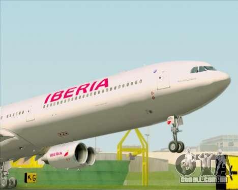 Airbus A340-642 Iberia Airlines para GTA San Andreas vista traseira