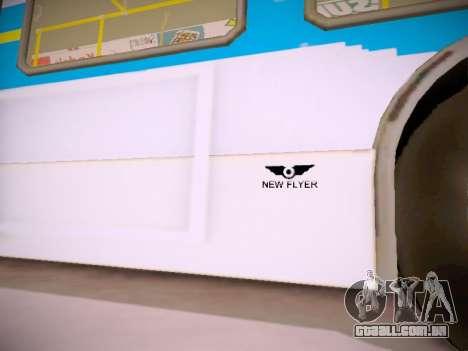 NewFlyer D40LF TransLink Vancouver BC para GTA San Andreas vista inferior