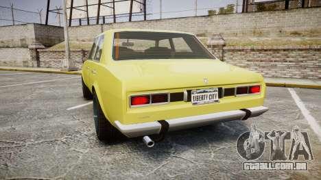 Vulcar Warrener para GTA 4 traseira esquerda vista