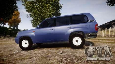 Toyota Land Cruiser para GTA 4 esquerda vista
