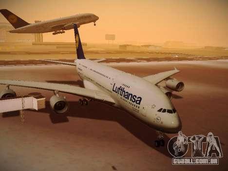 Airbus A380-800 Lufthansa para GTA San Andreas esquerda vista