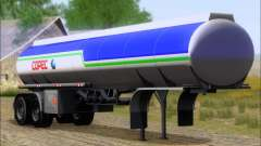 Tanque de reboque Carro Copec